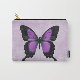 Purple and Radiant Orchid Butterfly Carry-All Pouch