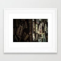 stickers Framed Art Prints featuring Kyoto Name Stickers 2 by Jason Halayko