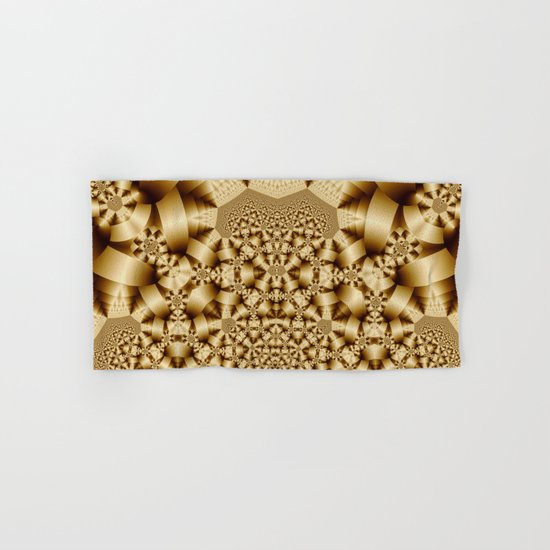 Golden shapes and patetrns in 3-D Hand & Bath Towel