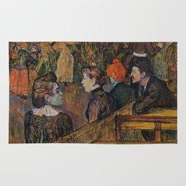 """Henri de Toulouse-Lautrec """"Ball at the Moulin de la Galette"""" Rug"""