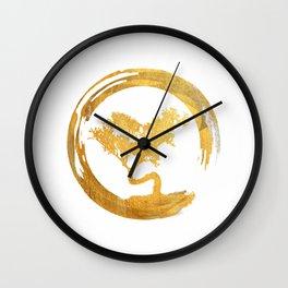 Bonsai Tree Enso Circle Asian Calligraphy Zen Art T-Shirt Wall Clock