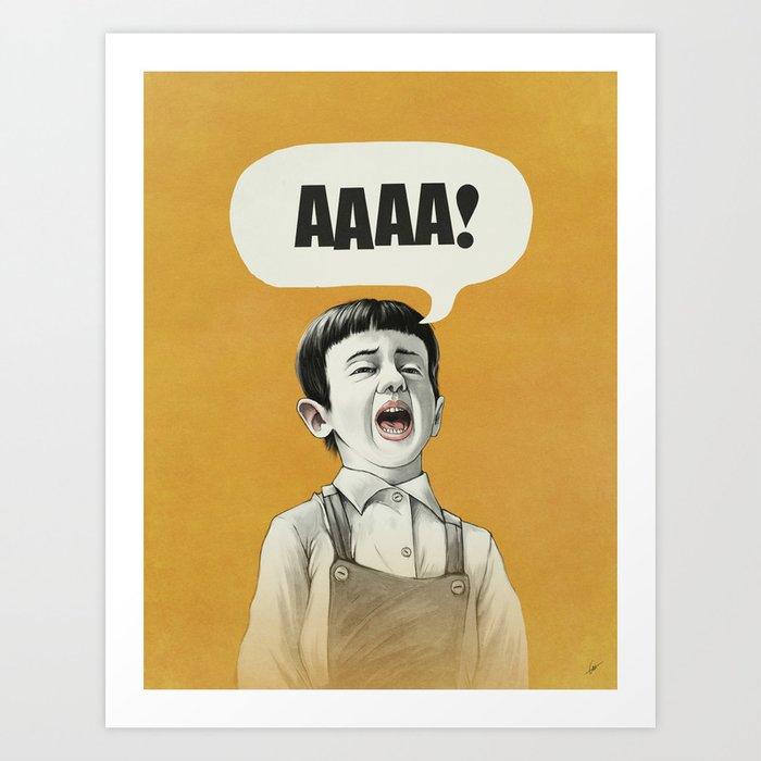 AAAA! (Golden) Art Print
