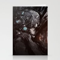 cyberpunk Stationery Cards featuring Cyberpunk 001  by Thecansone