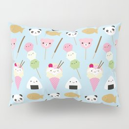Japanese Kawaii Snacks Pillow Sham