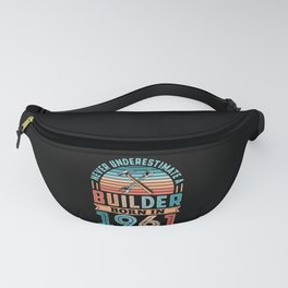 Builder born in 1961 60th Birthday Gift Building Fanny Pack