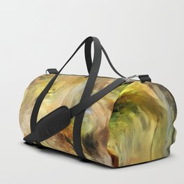 Abstract Bark Duffle Bag