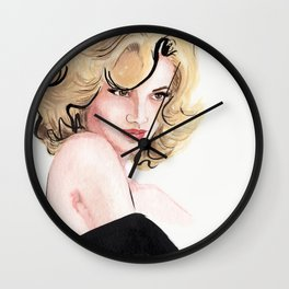 Pin Her Up Wall Clock