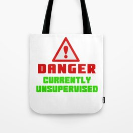 This is the best and funniest tee shirt that's perfect for you Danger Tote Bag