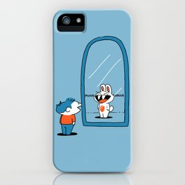 When I Look In The Mirror I See A Bunny iPhone Case