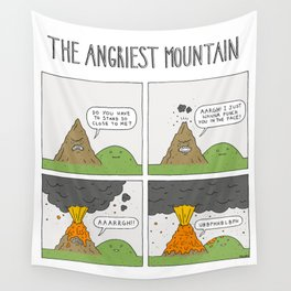 The Angriest Mountain Wall Tapestry