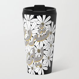 Mashrou' Leila Band Floral Logo Travel Mug