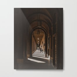 Beautiful architecture in Szeged, Hungary / Shadow / Light Metal Print