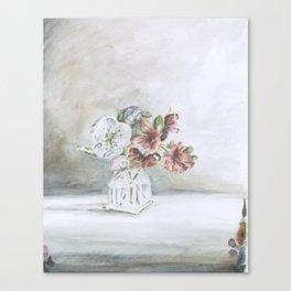 Intimacy (Pear blossom, Azalea)   Canvas Print