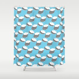 Layered clouds Shower Curtain