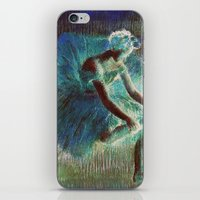 degas iPhone & iPod Skins featuring Ballerina Teal by PureVintageLove