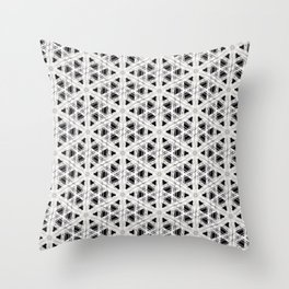 Modern abstract tiny triangle shaped lace modern abstract pattern Throw Pillow