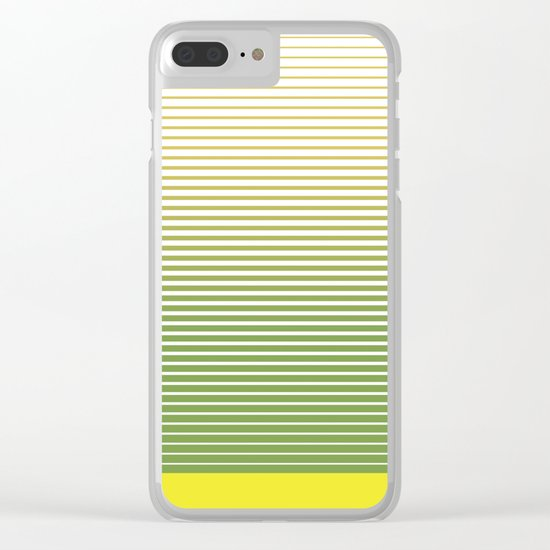zen stripes Clear iPhone Case