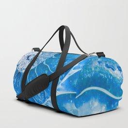 Blue colored Ammonite fossil Duffle Bag