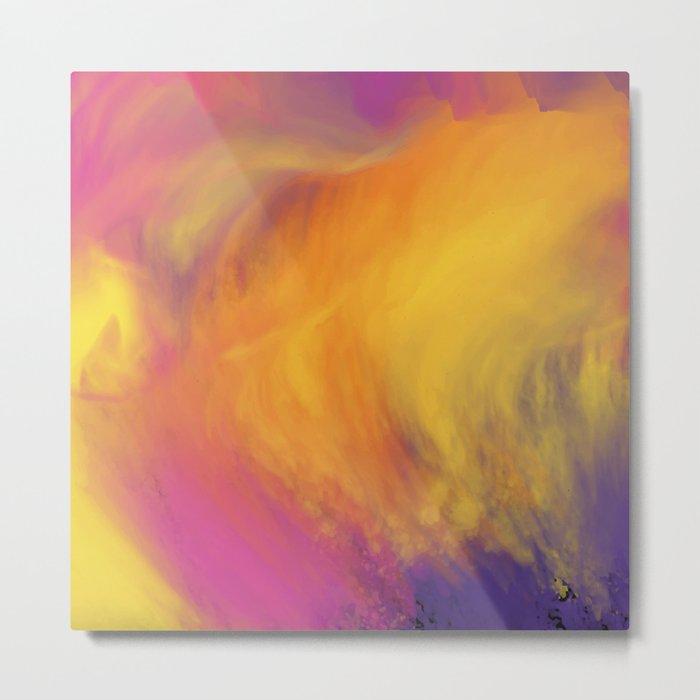 Abstract rainbow pattern Metal Print