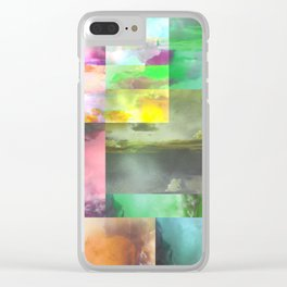 Geometric Clouds and Sky Clear iPhone Case