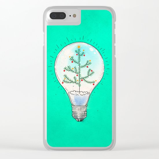 Christmas lamp Clear iPhone Case