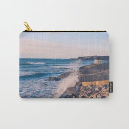 Crashing Waves in Newport Carry-All Pouch