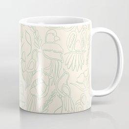 Birds in Green Paradise Coffee Mug