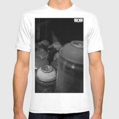 Heat White Mens Fitted Tee SMALL