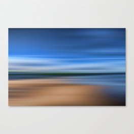 Beach Blur Painted Effect Canvas Print