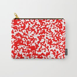 Small Spots - White and Red Carry-All Pouch