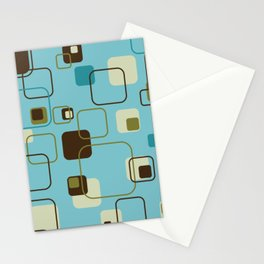 Mid-Century Modern Hep Cat (teal) Stationery Cards