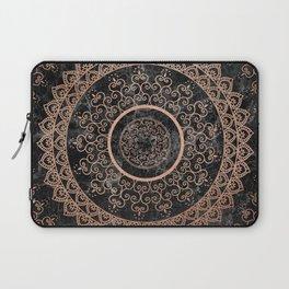 Mandala - rose gold and black marble Laptop Sleeve
