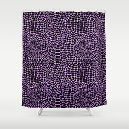 Neon crocodile/alligator skin Shower Curtain