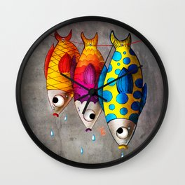 Fish Sale Wall Clock
