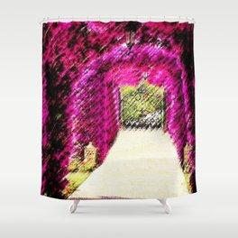 St. Regis Hotel Mardavall Pink Bougainvillea - Illes Balears, Spain by Jéanpaul Ferro Shower Curtain