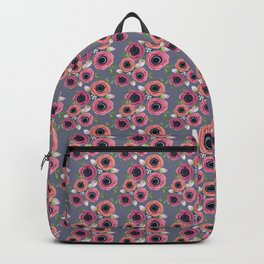 Fall Floral Anemone watercolors Backpack