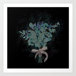 eucalyptus bouqet Art Print
