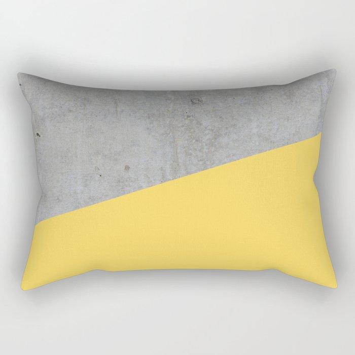 Concrete and primrose yellow color rectangular pillow