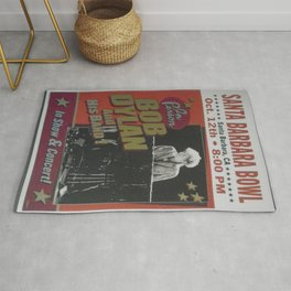 Vintage Bob Dylan Santa Barbara, California Concert Poster Limited Edition Originally 1 of 200 Rug