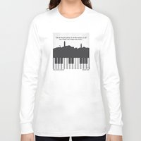 casablanca Long Sleeve T-shirts featuring No192 My Casablanca minimal movie poster by Chungkong