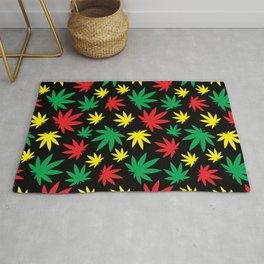 Rasta Weed Pattern Rug