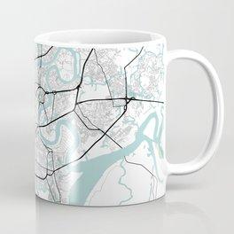 Ho Chi Minh, Vietnam City Map with GPS Coordinates Coffee Mug