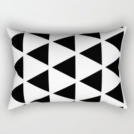 Sleyer Black on White Pattern Rectangular Pillow