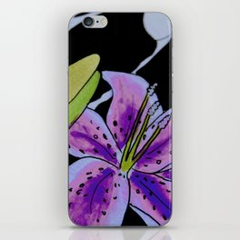 Purple tie dye flower iPhone Skin