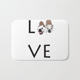 Love. English Bulldogs Bath Mat