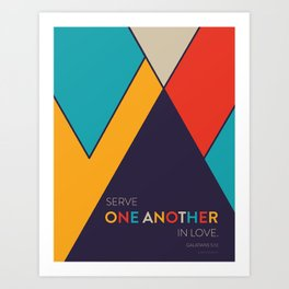 One Another Scripture Poster (Galatians 12) Art Print