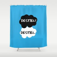 tfios Shower Curtains featuring Destiel - TFIOS by downeymore