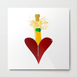 Love Champagne Metal Print