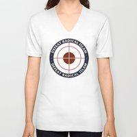 islam V-neck T-shirts featuring Defeat Radical Islam by politics