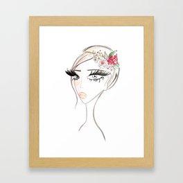 Flowers in  the hair Framed Art Print
